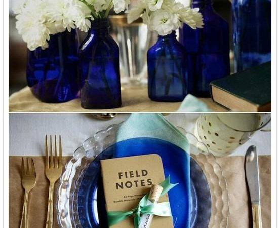 Royal Blue Gold Wedding Centerpieces Memes
