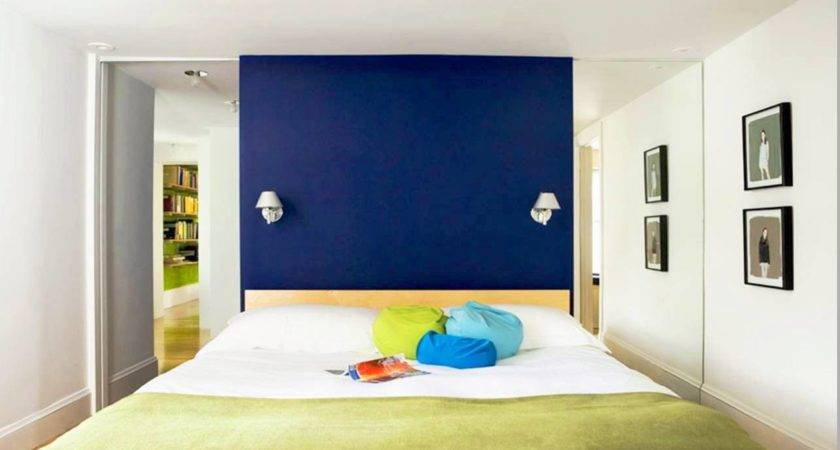 Royal Blue Painted Bed Room Coral Bedroom