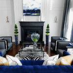 Royal Living Room Blue Accents Home Decorating Trends