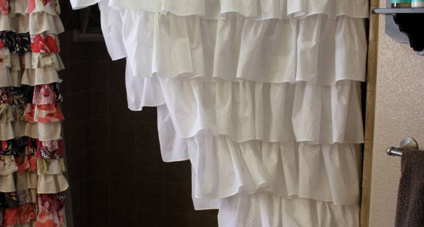 Ruffled Shower Curtains Carnation Home Fashions Crushed