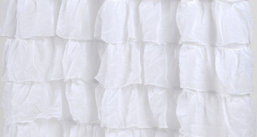 Ruffled Shower Curtains Home Design