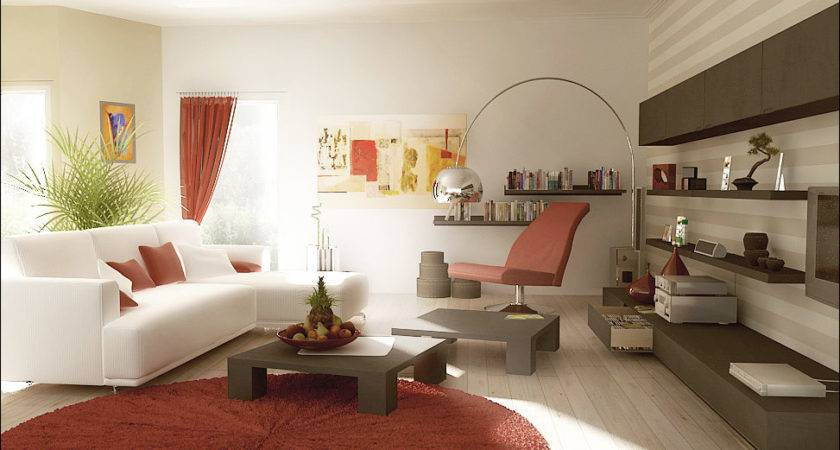 Rust Red White Living Room Furniture Designs Interior