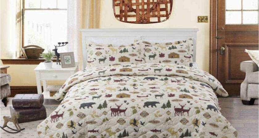 Rustic Bear Moose Quilt Country Lodge Log Cabin Bedding