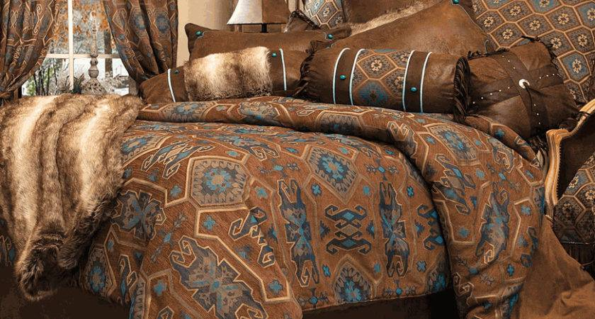 Rustic Bedding Turquoise Mesa Collection Black
