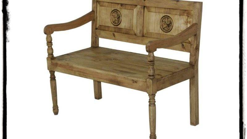 Rustic Bench Mexican Furniture Home Decor