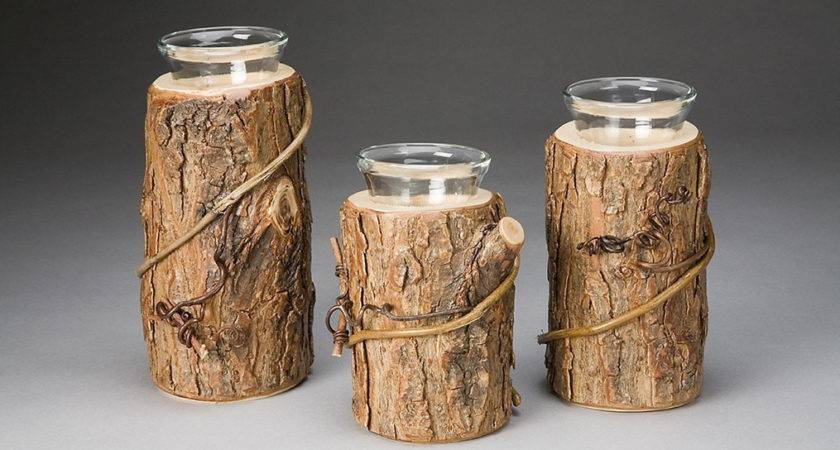 Rustic Candle Holder Trio Thebenttreegallery Etsy