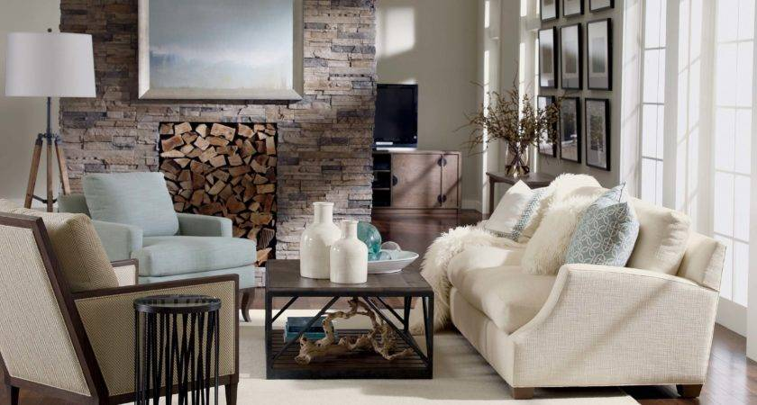 Rustic Chic Living Room Ethan Allen