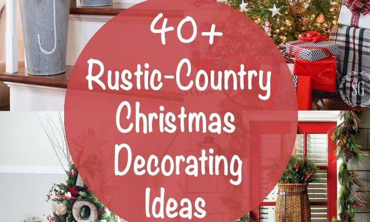 Rustic Country Christmas Decorating Ideas Home Design