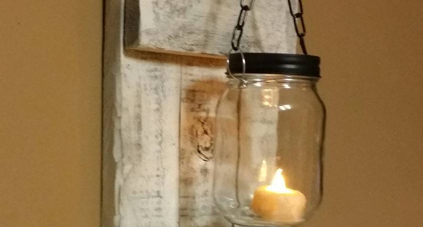 Rustic Distressed Candle Holder Decor