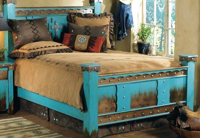 Rustic Domingo Azul Bed King Reclaimed Furniture Design