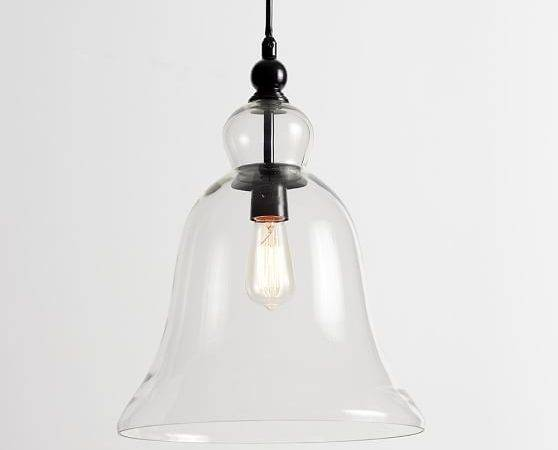 Rustic Glass Indoor Outdoor Pendant Large Pottery Barn