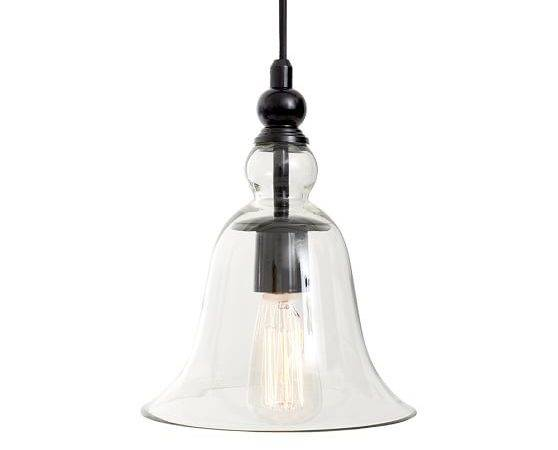 Rustic Glass Light Pendant Pottery Barn