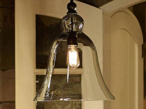 Rustic Glass Pendant Large Pottery Barn
