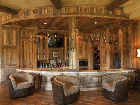 Rustic Home Bar Designs Design