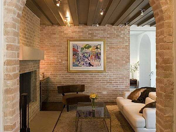 Rustic House Exposed Brick Walls Design Ideas