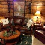 Rustic Living Room Furniture Ideas Brown Leather Sofa
