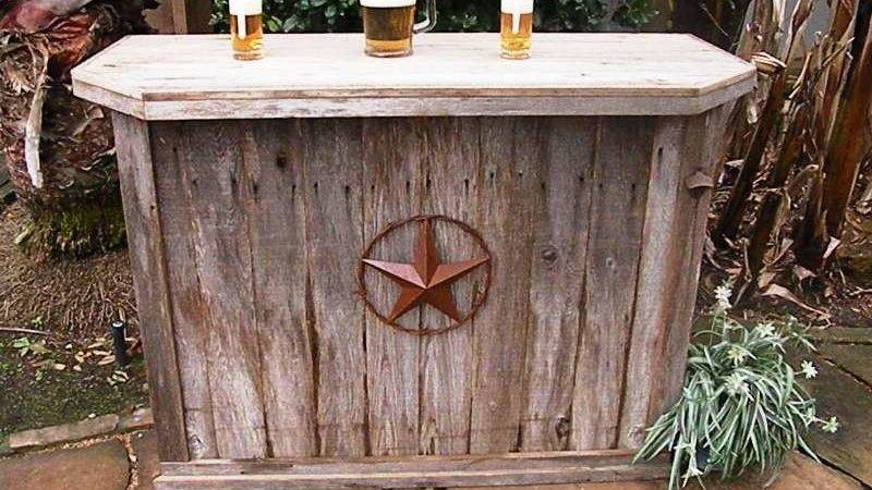 Rustic Outdoor Wooden Bars