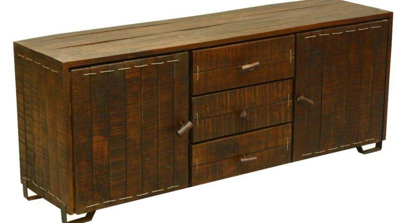 Rustic Reclaimed Wood Storage Cabinet Drawer Sideboard