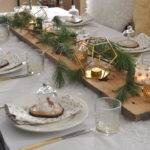 Rustic Snowy Table Setting Ideas