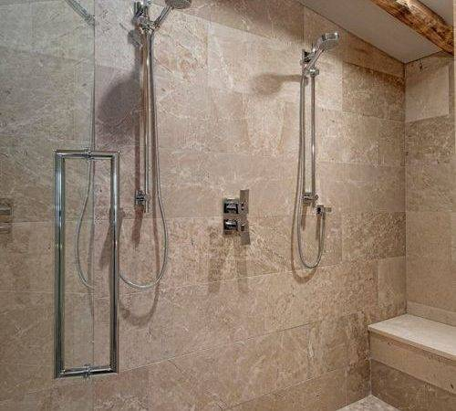 Rustic Walk Shower Design Ideas Remodels Photos