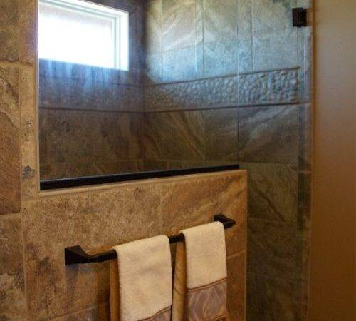 Rustic Walk Shower Designs Pin Pinterest