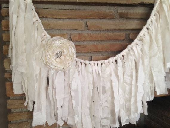 Rustic Wedding Garland Shabby Chic Decor Vintage Lace