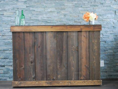 Rustic Wood Bar Platinum Event Rentals