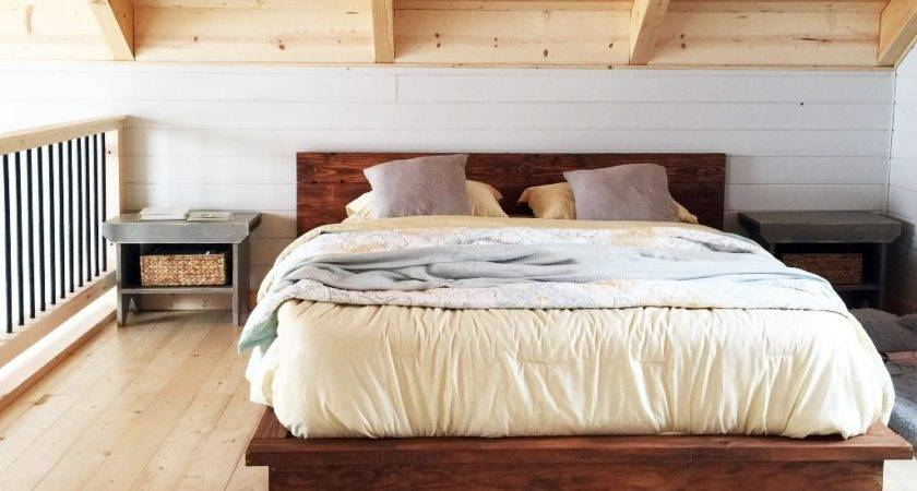 Rustic Wood Platform Bed Style Affordable