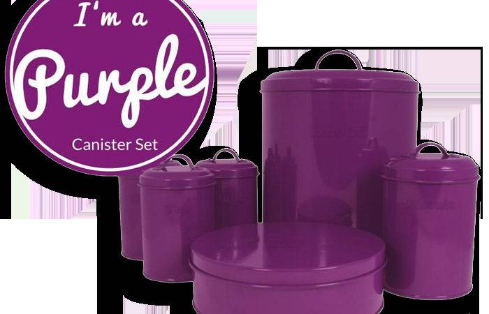 Sabichi Purple Canister Set Piece Ebay