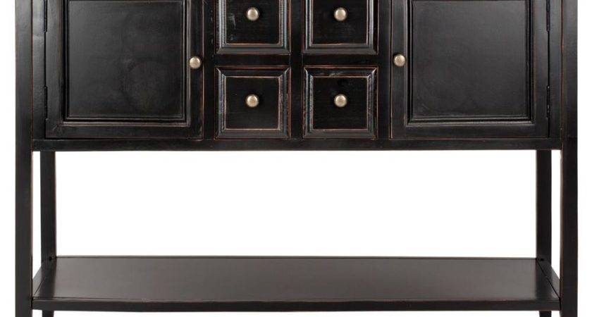 Safavieh Charlotte Black Oak Buffet Storage