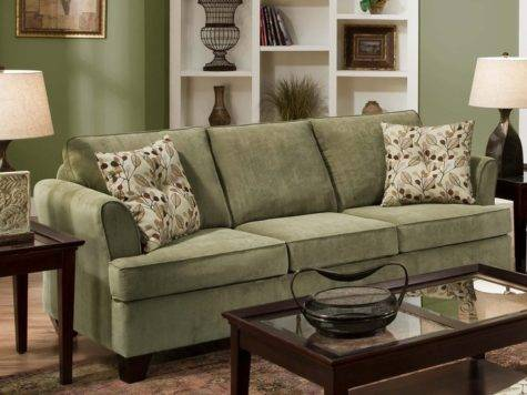 Sage Color Sofa Jensen Tarragon Reversible Sectional