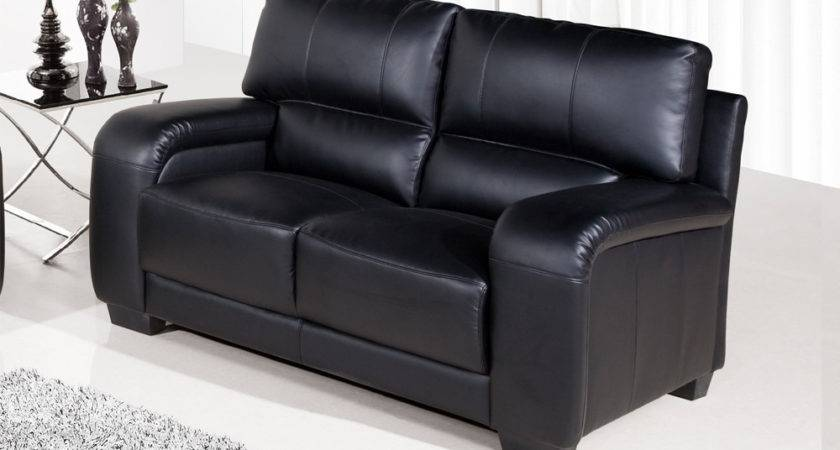 Sale Dior Regular Seater Black Leather Sofa Sofas Couch