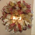 Sale Lighted Christmas Wreath Red Gold