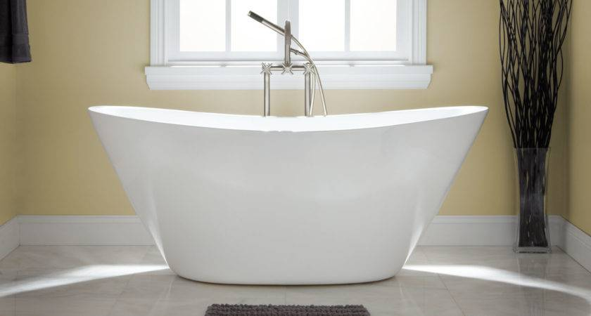 Sale Treece Freestanding Acrylic Tub Overflow