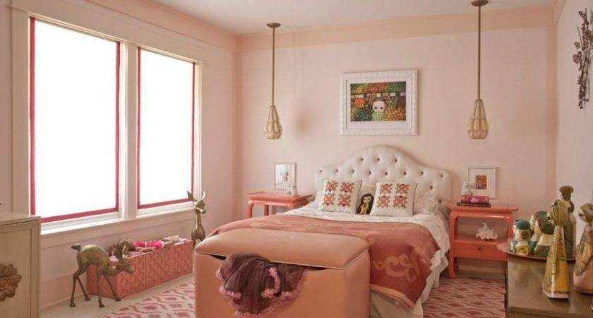 Salmon Pink Wall Paint Color Nice Bedroom Ideas