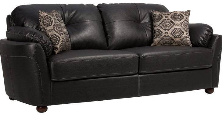 Santa Three Seater Sofa Throw Pillows Black