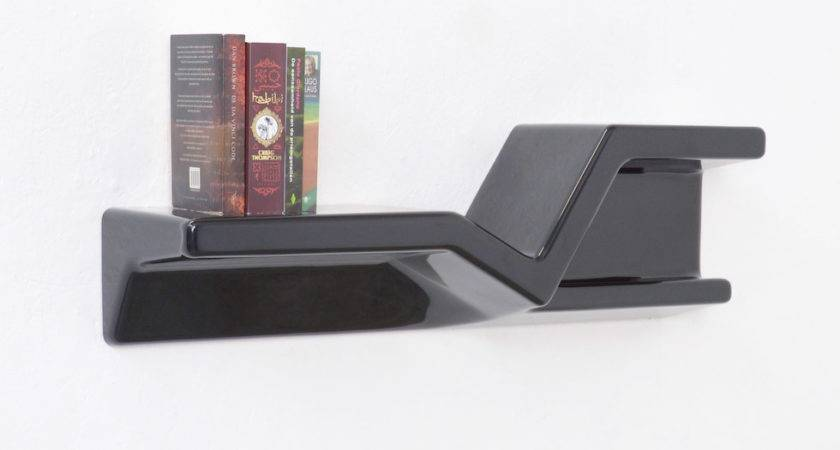 Sculptural Black Plastic Floating Shelf Nani Prina
