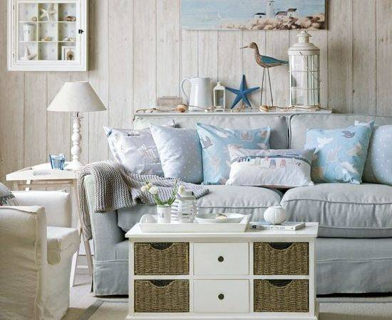 Sea Inspired Living Room Coastal Style Decorating Ideas