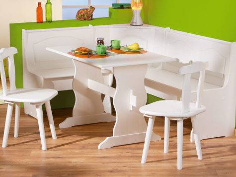 Seating Benches Indoor Built Dining Nook White Corner