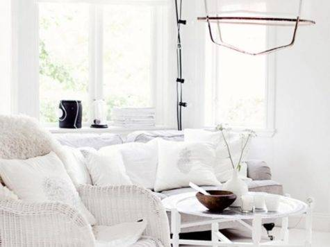 Serene All White Living Room Design Ideas Rilane