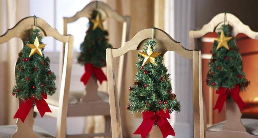 Set Christmas Tree Star Kitchen Dining Chair