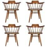 Set Four Captain Chairs George Nakashima Sale