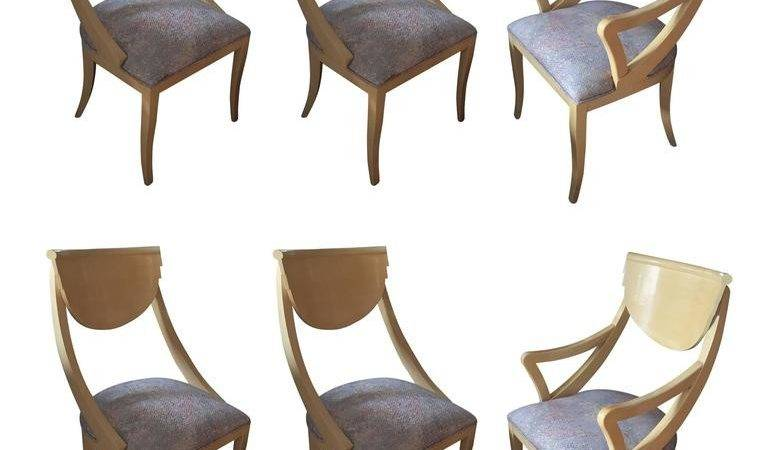 Set Two Captain Four Gondola Dining Chairs Stdibs