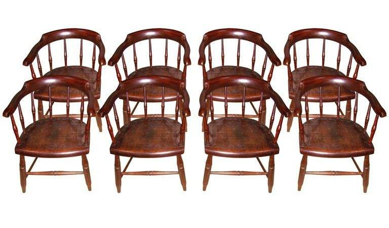 Set Windsor Captain Chairs Stdibs