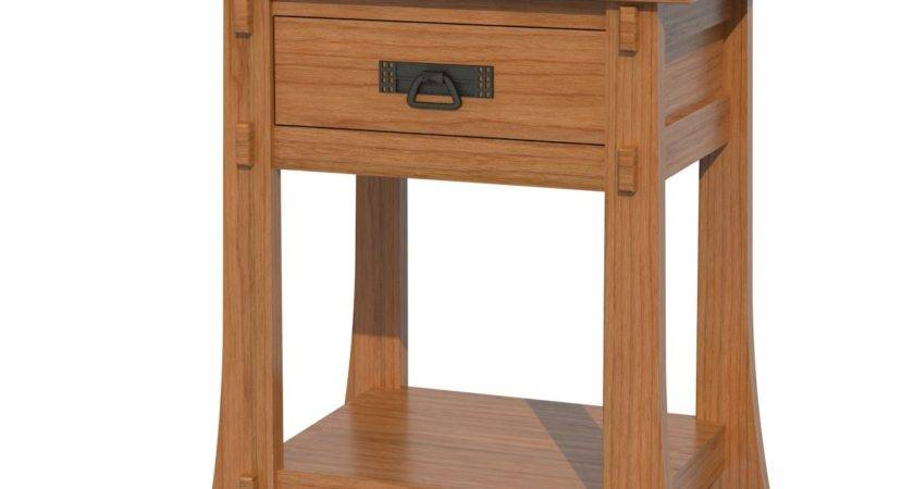 Seville Nightstand Shelves Solid Wood