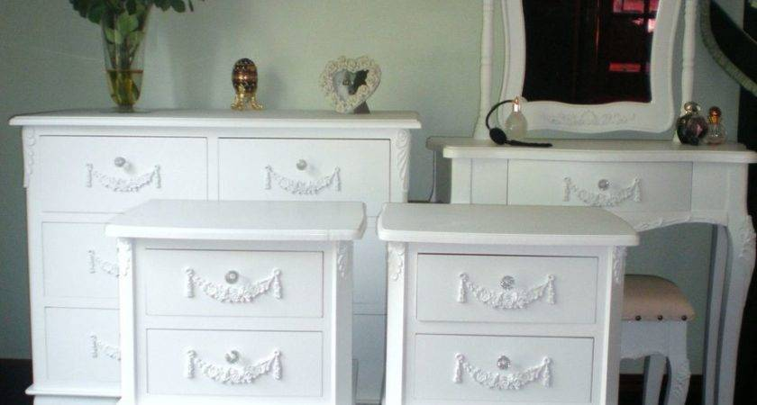 Shabby Chic Bedroom Set French Style Furniture White