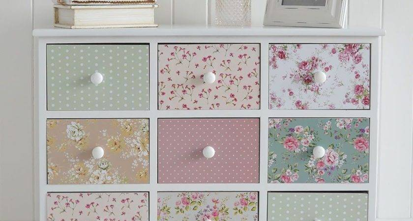 Shabby Chic Chest Drawers Sideboard Girls Bedroom