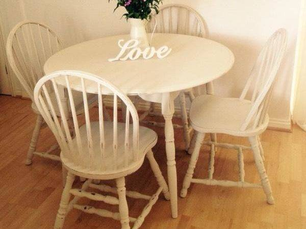 Shabby Chic Country Cottage Dining Table Chairs