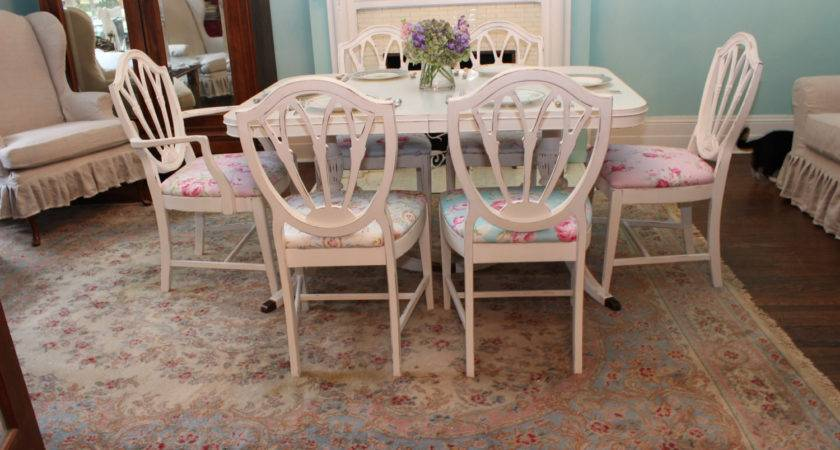 Shabby Chic Dining Room Set Table Chair White Distressed