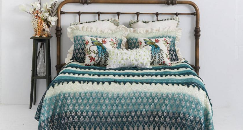 Shabby Chic Duvet Cover Venetian Lace Green Ombre